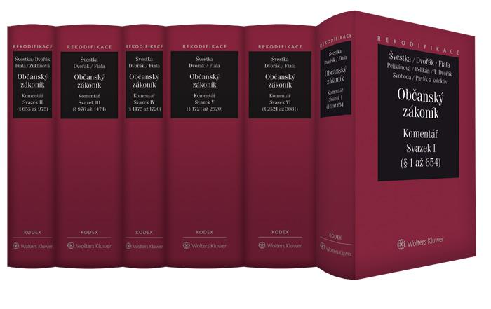 Jednotlivé svazky Komentáře k novému občanskému zákoníku