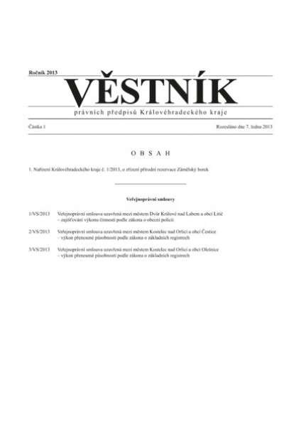 Věstník právních předpisů Královéhradeckého kraje