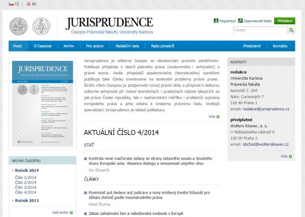 Jurisprudence nový web