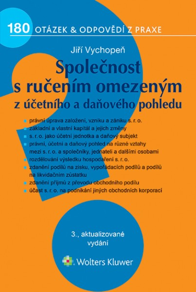 Společnost s ručením omezeným z účetního a daňového pohledu, 3. vydání