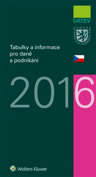Tabulky a informace pro daně a podnikání 2016