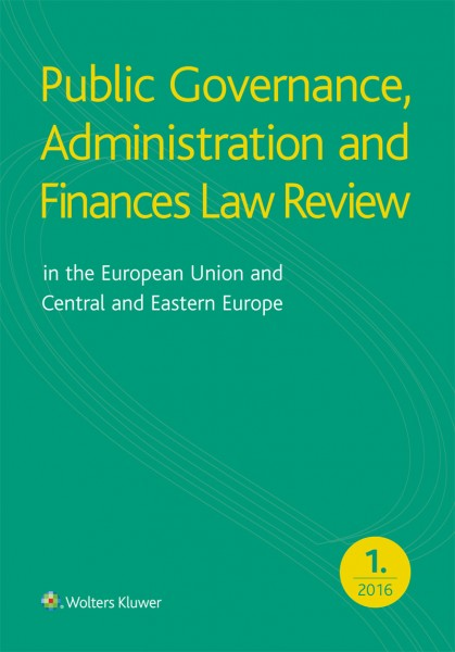 Public Governance, Administration and Finances Law Review