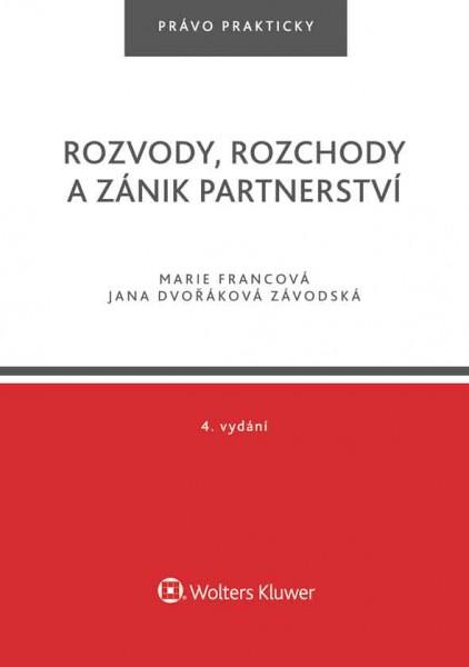 Rozvody, rozchody a zánik partnerství - 4. vydání
