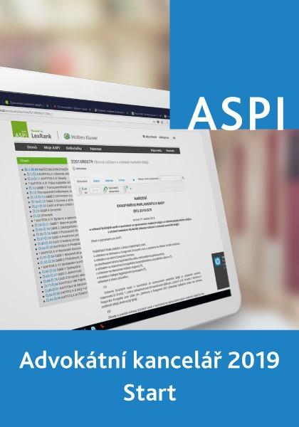 ASPI Advokátní kancelář 2019 Start