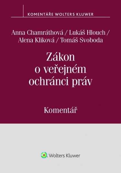 Zákon o veřejném ochránci práv (zák. č. 349/1999 Sb.). Komentář