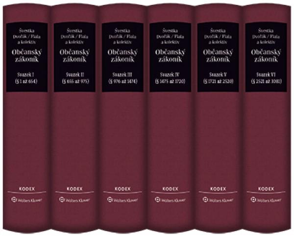 Občanský zákoník (zák. č. 89/2012 Sb.). Komentář. Komplet (svazek I až VI) – 2. vydání