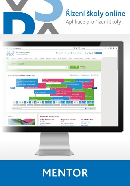 Řízení školy online - aplikace pro řízení školy - balíček Mentor