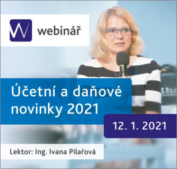 Účetní a daňové novinky 2021 - webinář