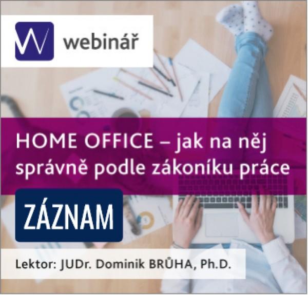 HOME OFFICE – jak na něj správně podle zákoníku práce - ZÁZNAM