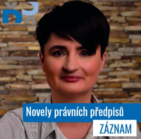 Novely právních předpisů a změny v činnosti zástupce ředitele - ZÁZNAM