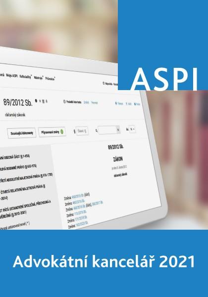ASPI Advokátní kancelář 2021