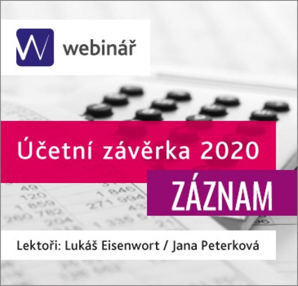Účetní závěrka 2020 (ZÁZNAM)
