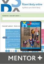 Řízení školy online - aplikace pro řízení školy - balíček Mentor Plus