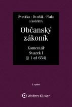 Občanský zákoník (zák. č. 89/2012 Sb.). Komentář. Svazek I (obecná část) - 2. vydání