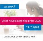 Velká novela zákoníku práce 2020 (webinář)