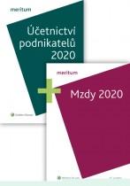 Komplet - MERITUM Mzdy a Účetnictví podnikatelů 2020