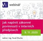 Jak naplnit zákonné povinnosti v interních předpisech - webinář