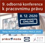 9. odborná konference k pracovnímu právu - ONLINE konference