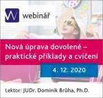 Nová úprava dovolené - praktické příklady a cvičení - webinář
