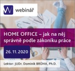 HOME OFFICE – jak na něj správně podle zákoníku práce - webinář