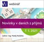 Novinky v daních z příjmů - webinář