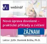 Nová úprava dovolené - praktické příklady a cvičení - ZÁZNAM