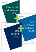 Komplet - meritum DPH, daň z příjmů a účetnictví podnikatelů 2021