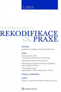 REKODIFIKACE & PRAXE