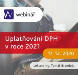Uplatňování DPH v roce 2021 - webinář