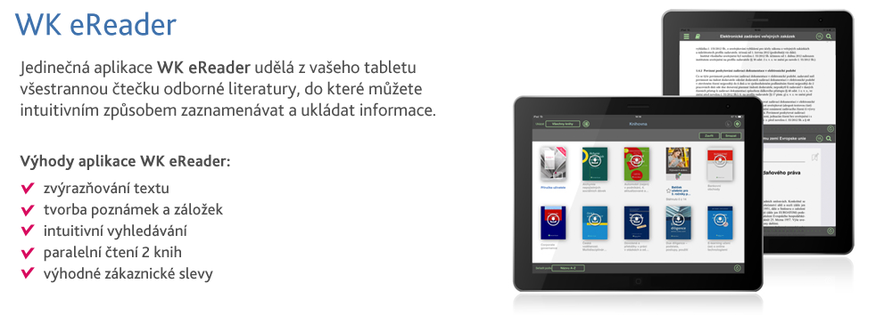 WK eReader - nová aplikace čtečka pro odbornou literaturu