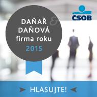 ČSOB Daňař & daňová firma roku 2015
