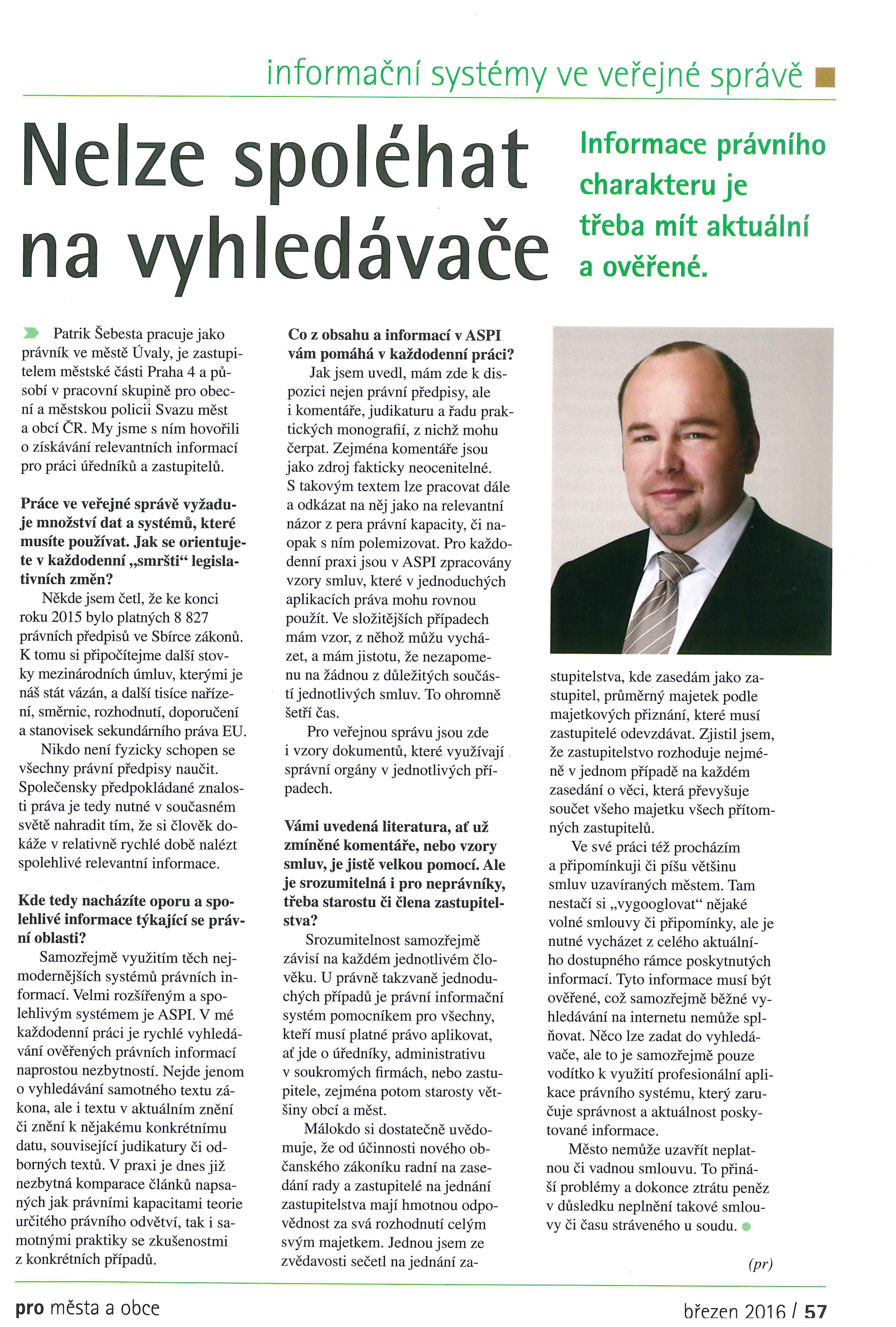 recenze ASPI - P. Šebesta