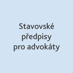 Stavovské předpisy pro advokáty