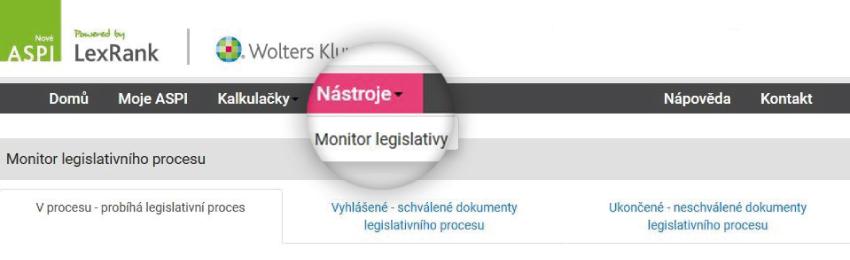 ASPI Monitor legislativního procesu