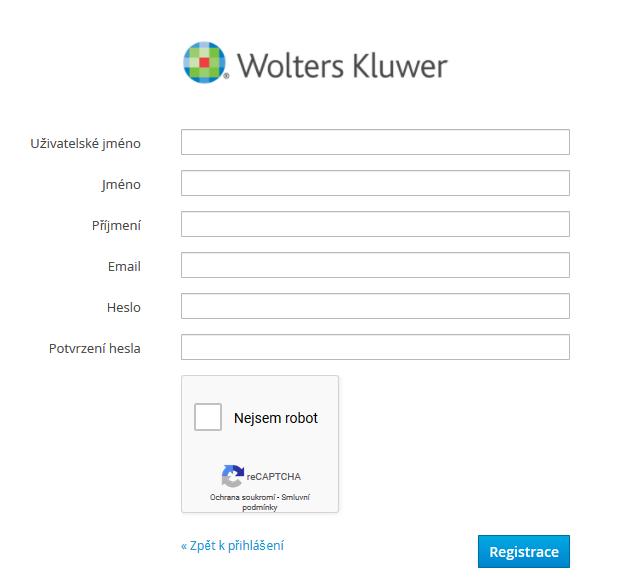 Registrace uživatele