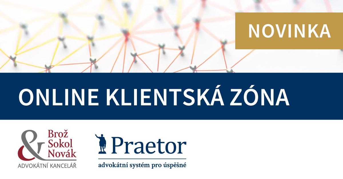 Online klientská zóna Praetor