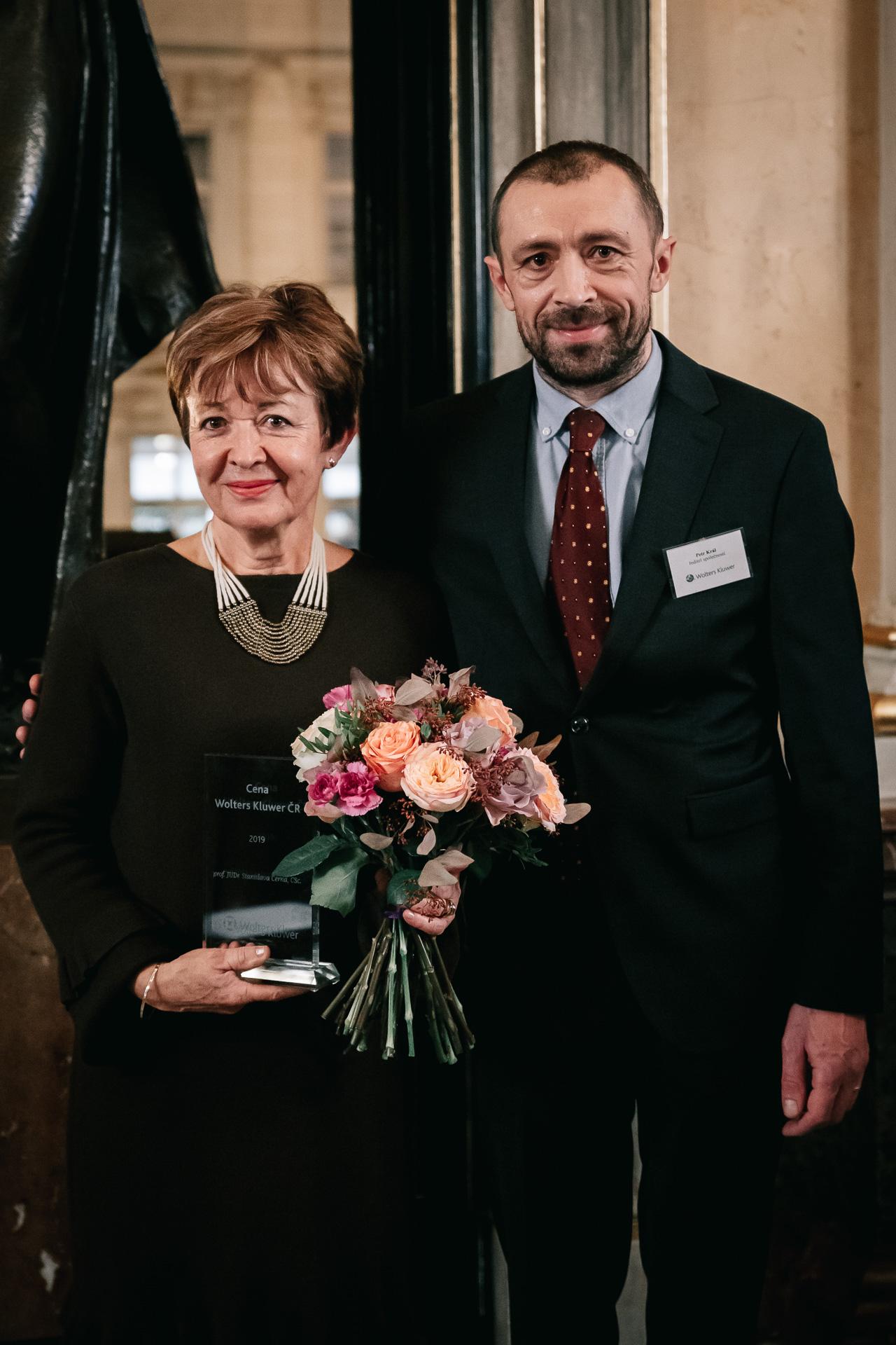 Prof. Černá a Petr Král