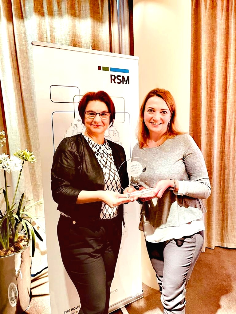 Zleva: Kateřina Provodová, Head of Tax; Monika Marečková, Managing partner (RSM CZ a.s., Nejžádanější zaměstnavatel v daních 2020)