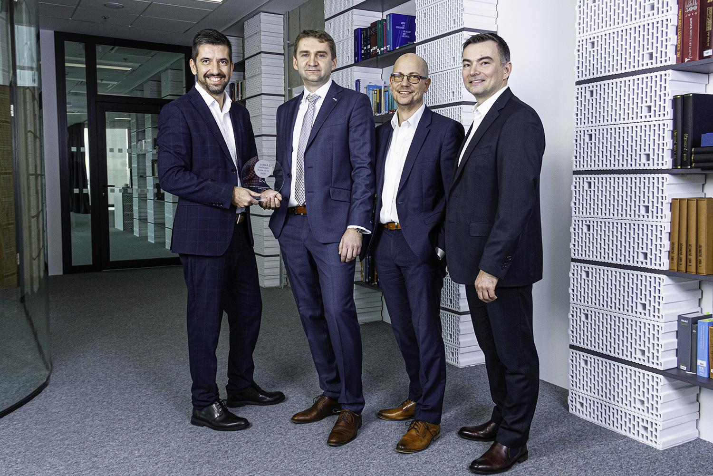Zleva: Milan Pašek, Jiří Jakoubek, Pavel Humplík a Tomáš Brabenec (Grant Thornton Czech Republic a.s., ETL Největší poradenská firma roku 2020 mimo Velkou 4)